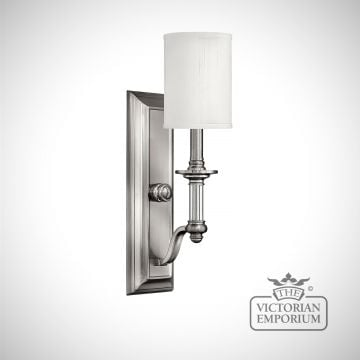 Sussex single wall sconce with white shade