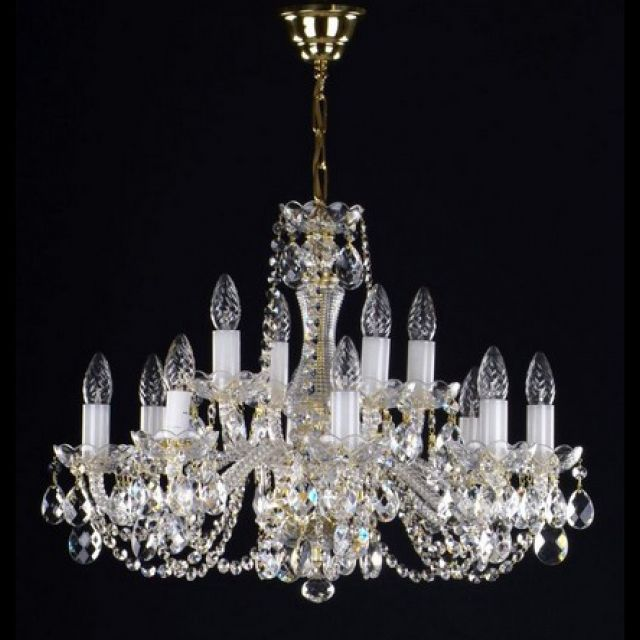Stunning medium 12 arm chandelier