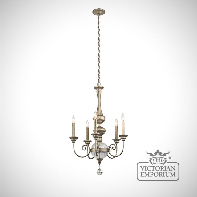 Rosalie 5 light tall chandelier