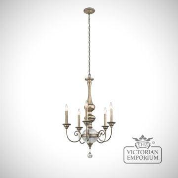 Rosalie 5 light tall chandelier