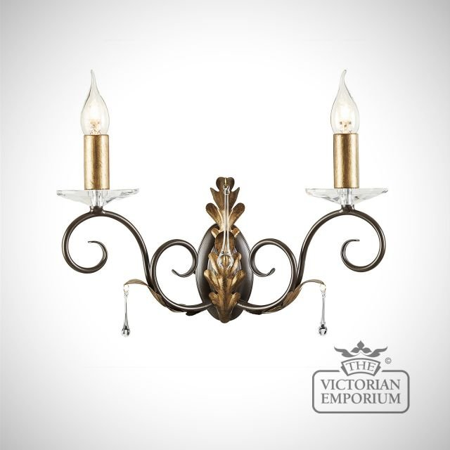 Amarrilli wall sconce in gold or silver