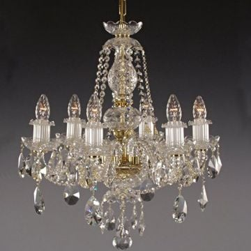 Classic ornate 6 arm chandelier