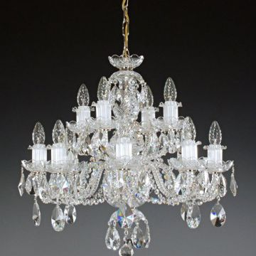 2 tier 12 arm chandelier