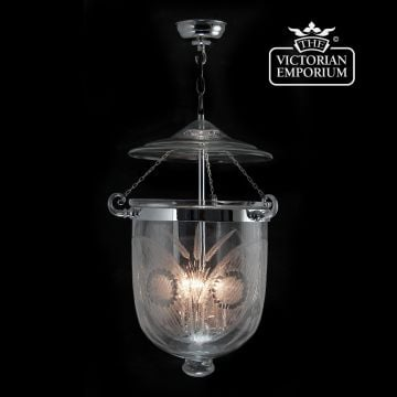 Fern lantern - large in chrome