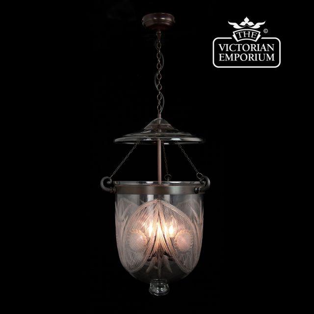 Fern lantern - large in antique bronze