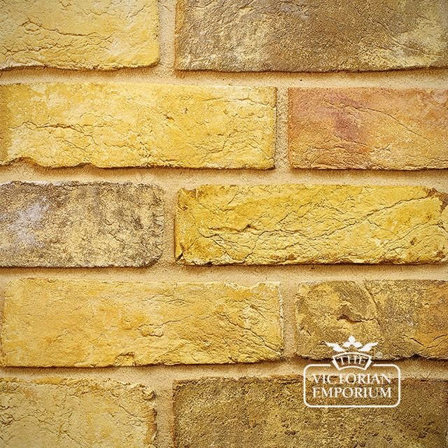 Yellow Stock Brick Slip