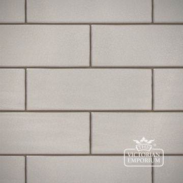 White Crackle Glazed Brick Slip