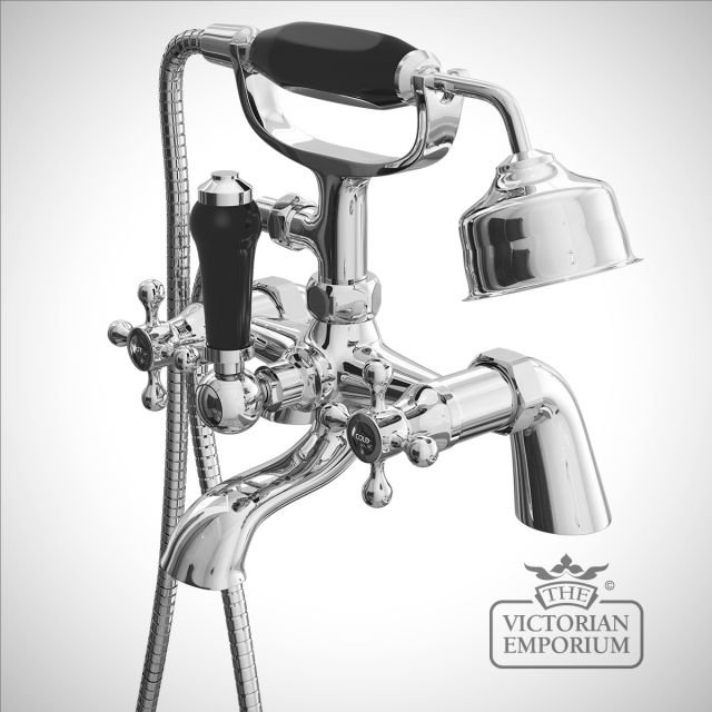 Albert Classic Victorian Bath / Shower Mixer with Black Ceramic Indices