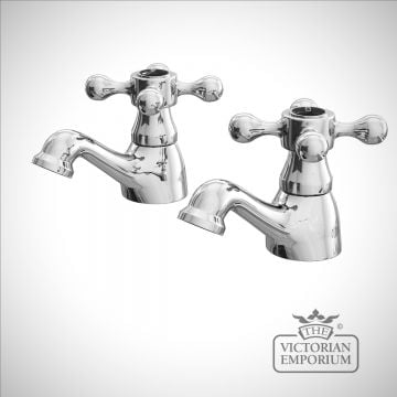 Albert Classic Victorian Bath Taps with Black Ceramic Indices