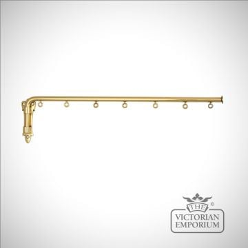 Dormer Window brass curtain swing arm with or without eyes
