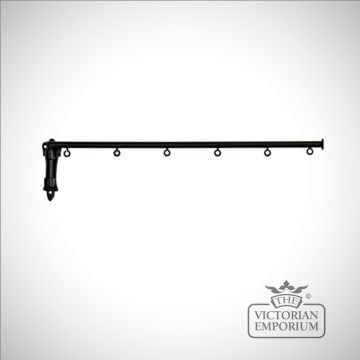 Dormer Window wrought iron curtain swing arm with or without eyes