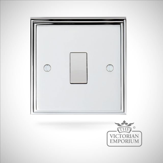 Stepped 1 Gang Switch - brass or chrome or satin chrome