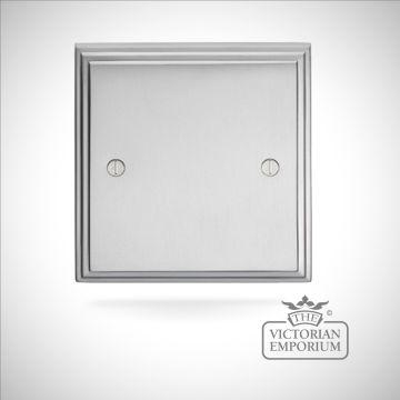 Stepped blank plate - brass or chrome or satin chrome