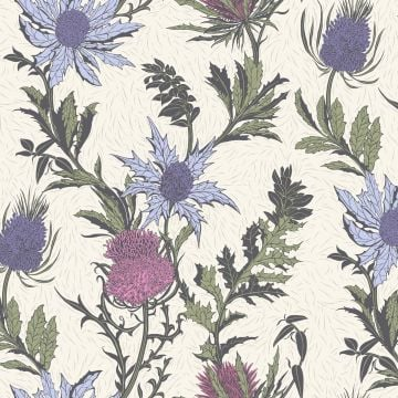Thistle wallpaper in a choice of 3 colourways