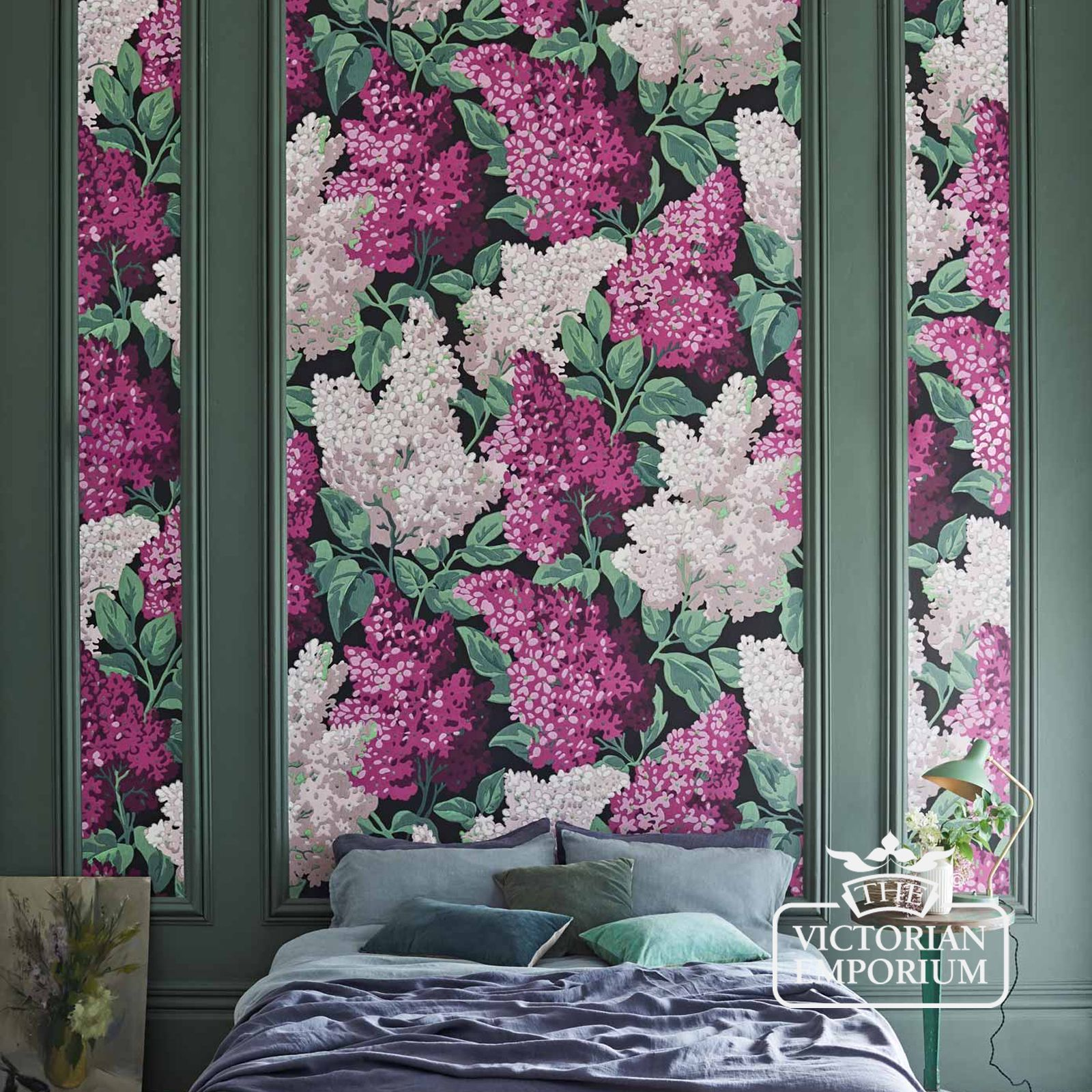 Victorian Mural Wallpaper: Lilac Giant Print Wallpaper