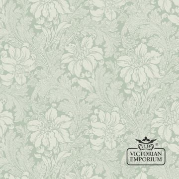 Acanthus Wallpaper - a Victorian botanical wallpaper with flower and leaf design - Luxury quality, in six colours.