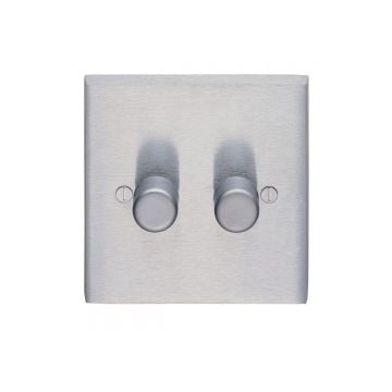 2 Gang 400w Dimmer  - brass, chrome or satin chrome
