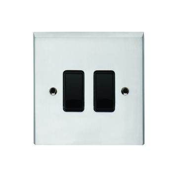 2 Gang 10Amp 2Way Switch - brass, chrome or satin chrome