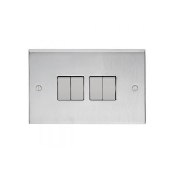 4 Gang 10Amp 2Way Switch - brass, chrome or satin chrome