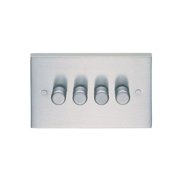 4 Gang 400w Dimmer - brass, chrome or satin chrome