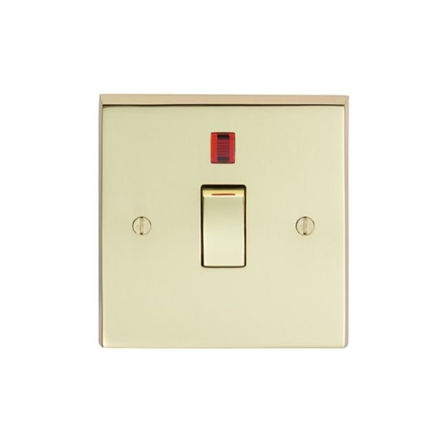 1 Gang 20Amp DP Switch & Neon - brass, chrome or satin chrome