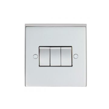 3 Gang 10Amp 2Way Switch - brass, chrome or satin chrome