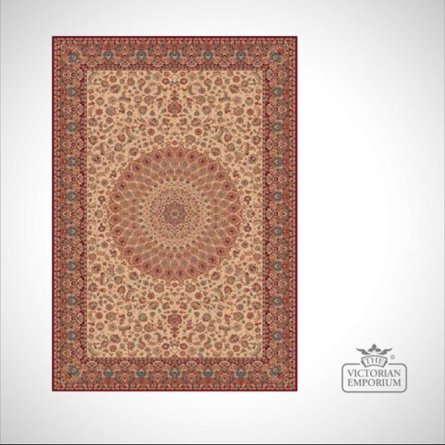 Victorian Rug - style RO1639 Red