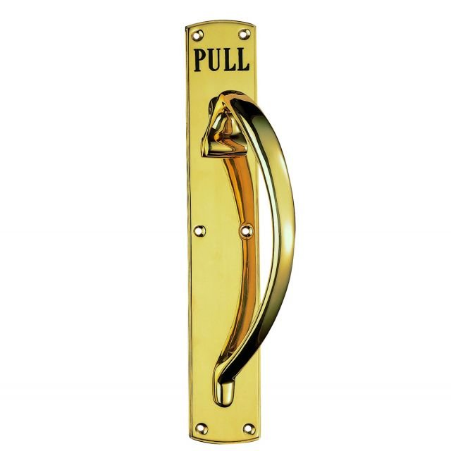 Engraved Brass Pull handle