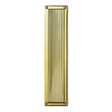 Reeded Brass Fingerplate