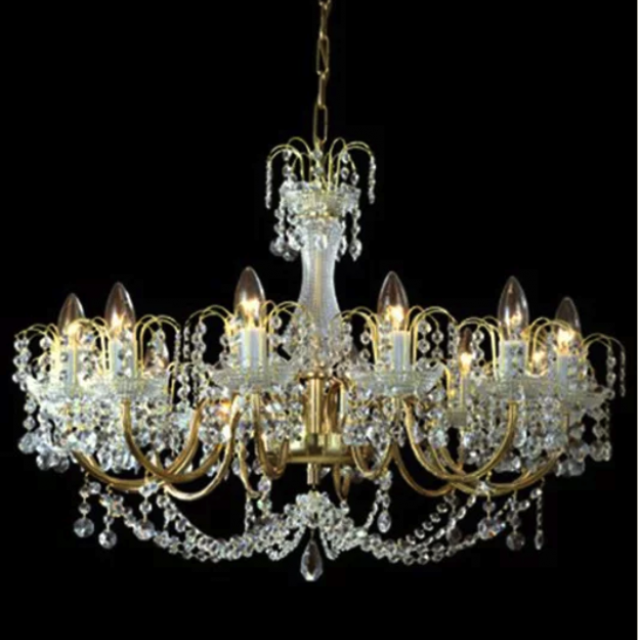Sumptuous 12 arm chandelier with cast arms