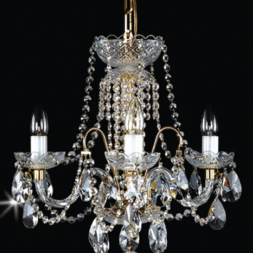 Small and delicate 5 arm chandelier