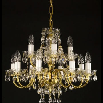 Adele 12 arm chandelier