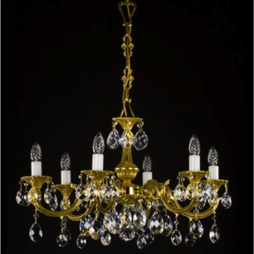 Alicia Cast 6 arm chandelier