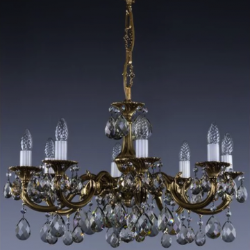 Alicia Cast 8 arm chandelier
