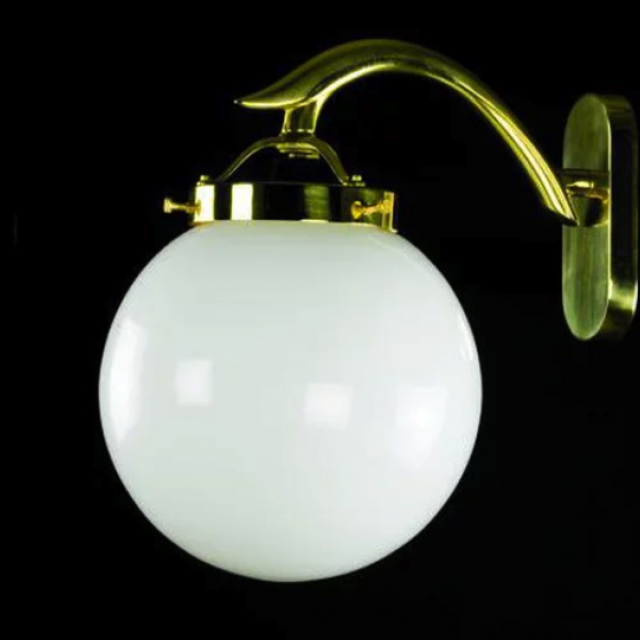 Globe gold wall sconce