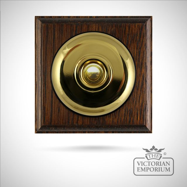 Period plain push button dimmer switch - choice of finishes and gang options