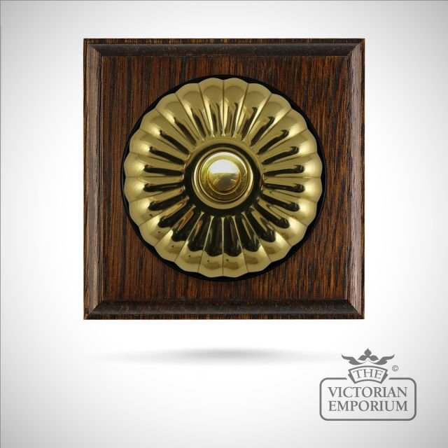 Period fluted push button dimmer switch - choice of finishes and gang options