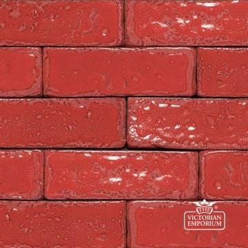 Glazed Brick Slip in Ruby