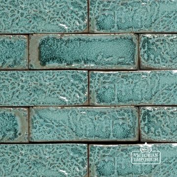 Glazed Brick Slip in Turquoise