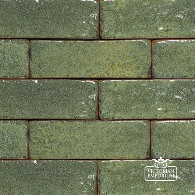 Glazed Brick Slip in Jade