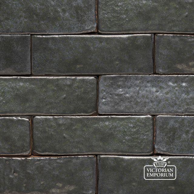 Glazed Brick Slip in Silver Grey