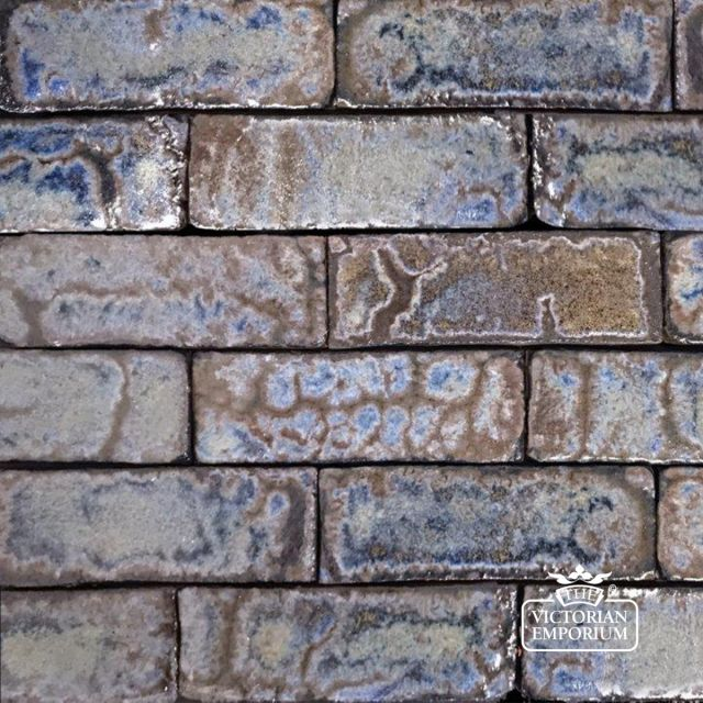 Glazed Brick Slip in Azure