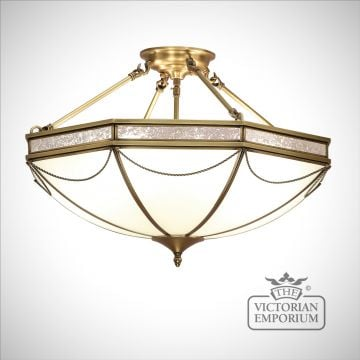 Russell 3 light semi flush mount light