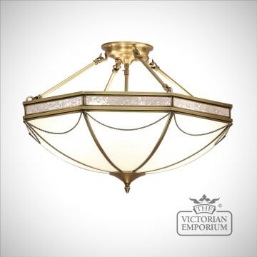 Russell 8 light semi flush mount light