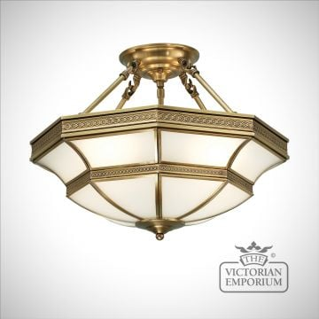 Balfour 4 light semi flush mount light