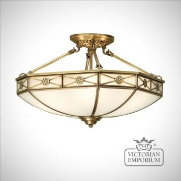 Bannerman 4 light semi flush mount light