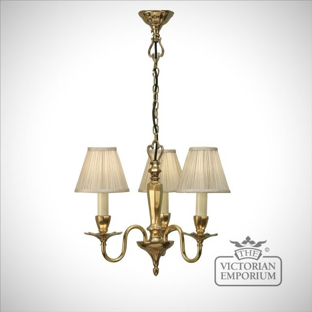 Asquith three light pendant with or without beige shades