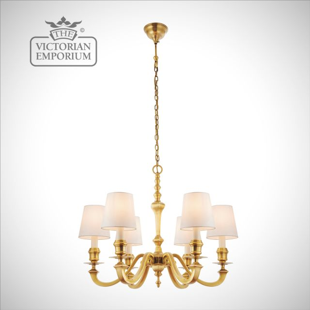 Fenbridge 6 light ceiling chandelier with our without shades