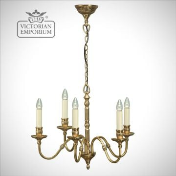 Fitzroy five light pendant with or without beige shades