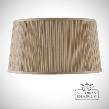 Kemp 17 inch oval lamp shade in Beige or Black